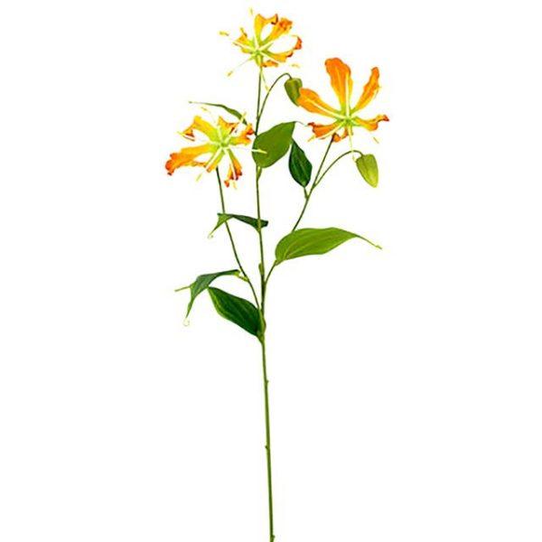artificial gloriosa flower spray