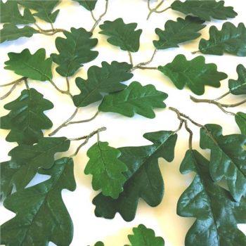 fake oak leaves