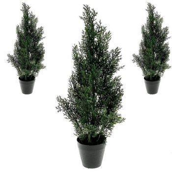 potted artificial cedar conifer tree