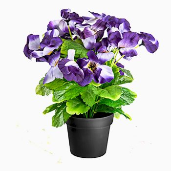 artificial purple pansy plant