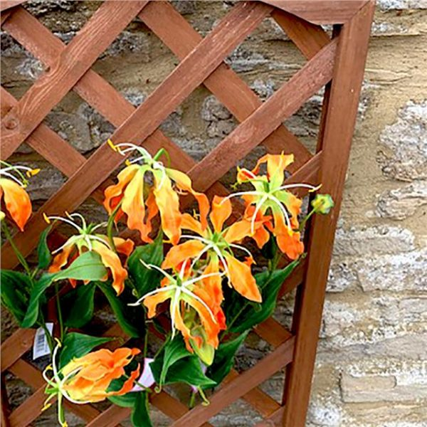 artificial orange gloriosa flower