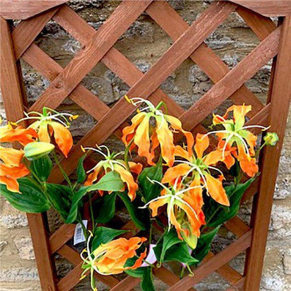 orange artificial gloriosa flower sprays