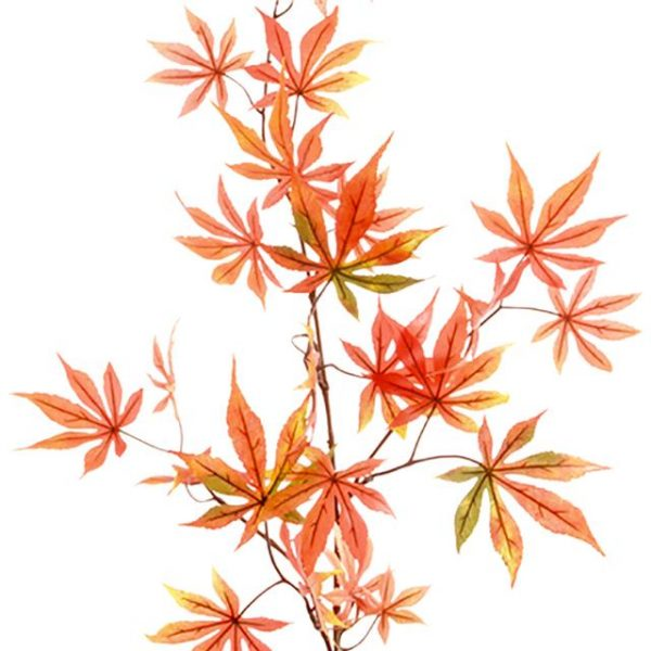 orange artificial Japanese maple leaf spray