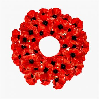 artificial poppy wreath