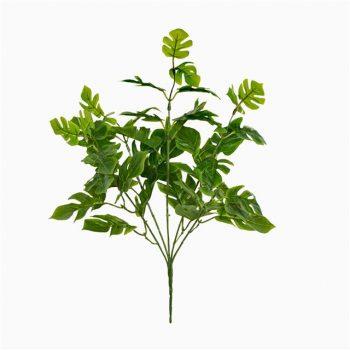 artificial split philo leaf bush spray