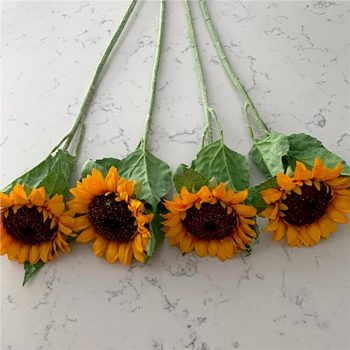 4 large artificial sunflowers