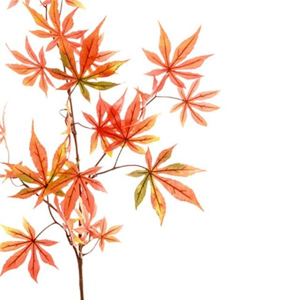 bright artificial Japanese maple leaf spray