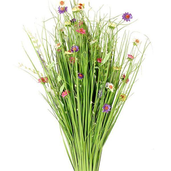 sheaf of artificial summer flowers