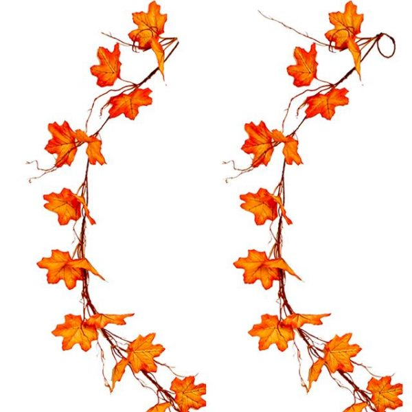 artificial autumn leaf garland