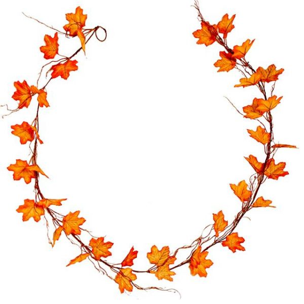 long artificial autumn leaf garland