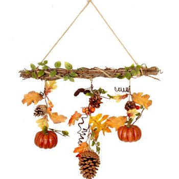 pumpkin autumn branch decoration