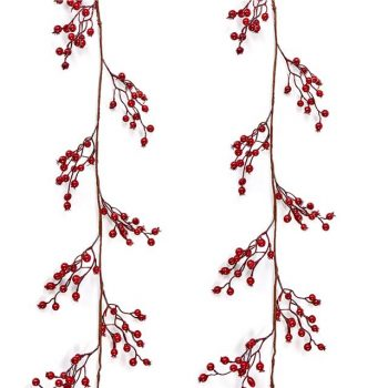 artificial red berry garland