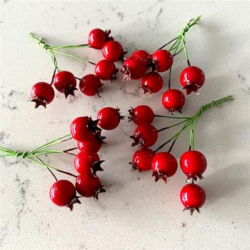 Artificial Red Berry Christmas Picks