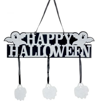 Happy Halloween Bunting Banner with Ghost Decoration
