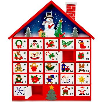 40cm wooden advent calendar