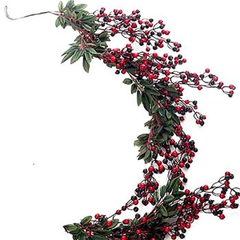Artificial Christmas Red Berry Garland