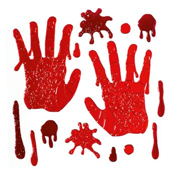 Gel Window Bloody Hands Stickers
