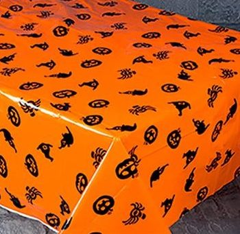 Halloween Table Cover Orange Pumpkin