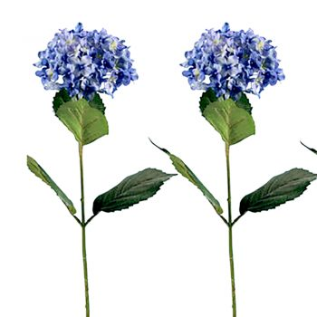 Blue Artificial Hydrangea Flower