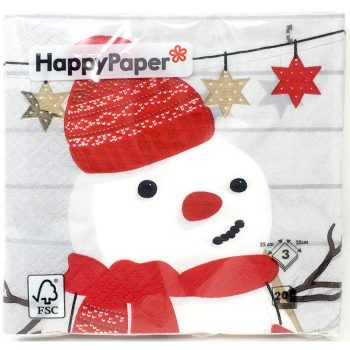 Premier Dec Gilbert the Snowman Cocktails Napkins