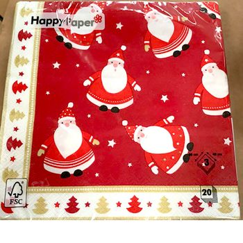 Red and Gold Santa Lunch Napkins