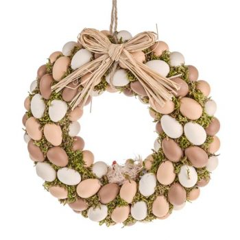 Easter Eggs Wreath with Natural Eggs