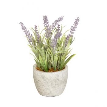 Artificial Potted Lavender Plant