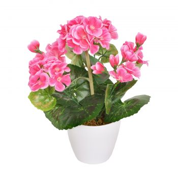 Artificial Potted Pink Geranium