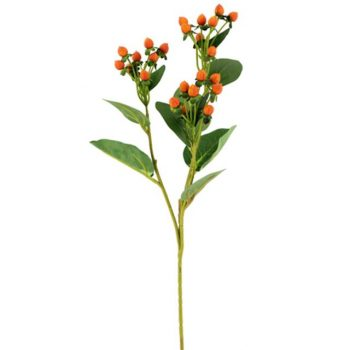 Artificial Hypericum Berry Spray Orange