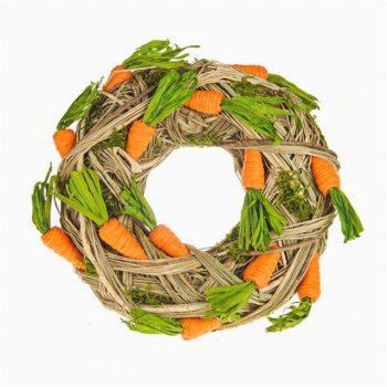 Easter Carrot Raffia Wreath