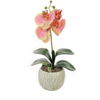 Artificial Pink Potted Orchid