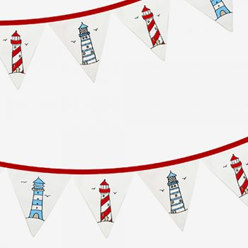 Lighthouse Fabric Bunting