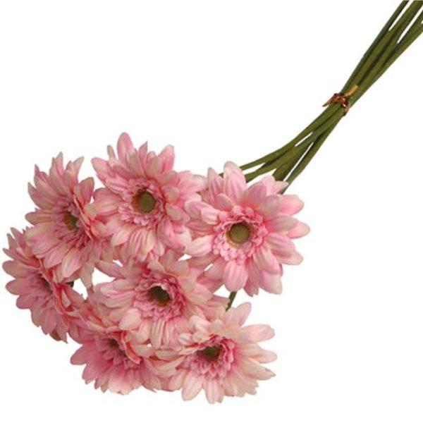 Artificial Mini Pale Pink Gerbera Bundle