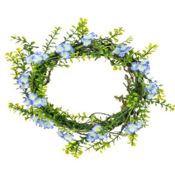 Artificial Forget-Me-Not Wreath