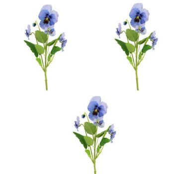 Artificial Blue Pansy Spray