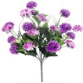 Artificial Chrysanthemum Bush Lilac and Purple