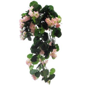 Artificial Trailing Pale Pink Geranium