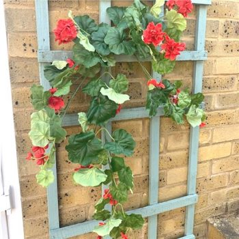 Artificial Trailing Red Geranium Plant