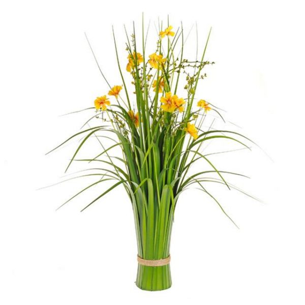 Artificial Yellow Cosmos Sheaf with Grass