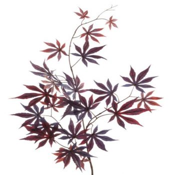 Artificial Japanese Red & Brown Maple Leaf Spray