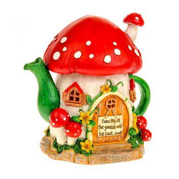 Secret Garden Solar Light up Teapot Toadstool Fairy House
