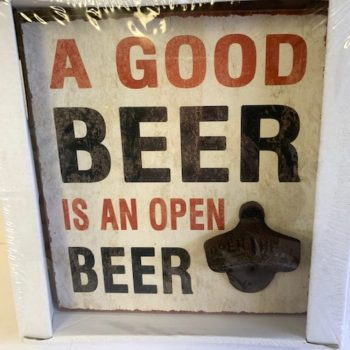 Vintage Man Cave Wooden Beer Sign Plaque With Bottle Opener