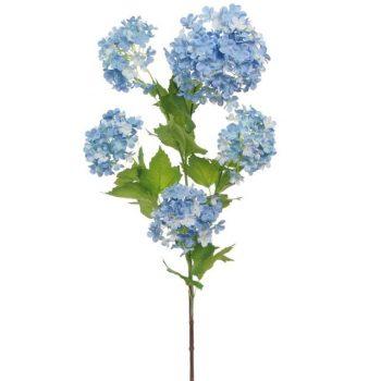 Artificial Blue Hydrangea Spray
