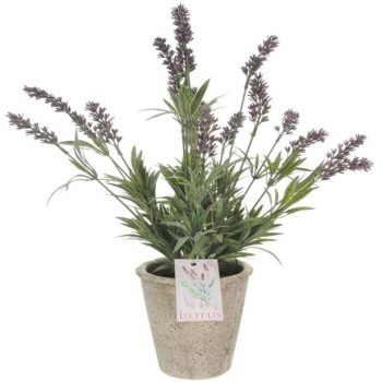 Artificial Potted Meadow Lavender Plant - 44cm