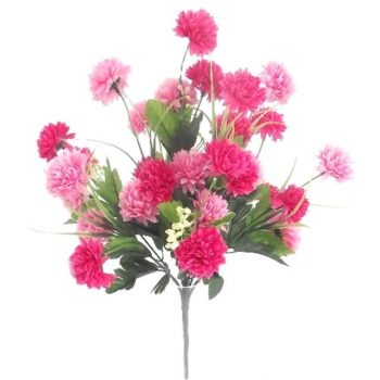 Artificial Pink Chrysanthemum Bush
