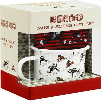 Official Beano Enamel Mug and Socks Gift Set