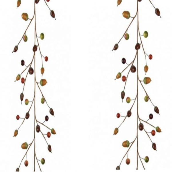 Artificial Autumn Acorn and Berry Garland