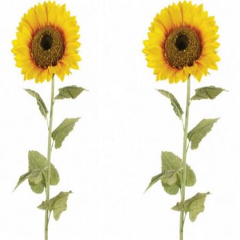 2 x 140cm Artificial Giant Single Sunflowers