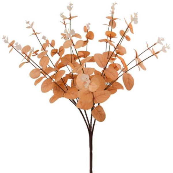 Artificial Orange Eucalyptus Bush