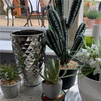 Metallic Silver Ceramic Pineapple Vase